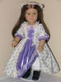Felicity Handmade American Girl Doll Dress Lavender Roses