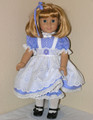 Handmade American Girl Doll 18 inch Pinafore Dress Periwinkle