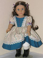 Handmade American Girl Doll Clothes 1850s Dress Marie Grace Teal