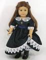 Handmade American Girl Green Plaid Taffeta Doll Dress