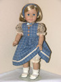 American Girl Clothes Handmade Doll Jumper Blouse Blue Beige