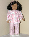 American Girl Doll Handmade 18 inch PJs SPARKLE Pink Snowman