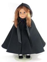black doll cape