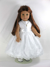 Confirmation doll dress