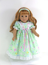 handmade flannel doll gown