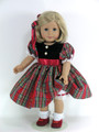 handmade taffeta doll dress