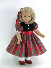 handmade Christmas doll dress