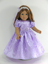 handmade satin American doll dress