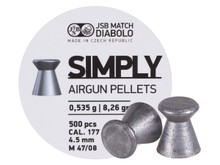 JSB Simply Pellets .177 Cal, 8.26 Grains, Wadcutter, 500ct