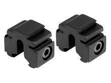 "BKL 3/8"" or 11mm Tri-Mount Dovetail Riser Mount, .60"" Long, Matte Black"