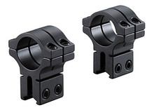 "BKL 1"" Rings, 3/8"" or 11mm Dovetail, Double Strap, High, Matte Black"