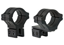 """BKL 30mm Rings, 3/8"""" or 11mm Dovetail, Double Strap, Offset, Matte Black"""