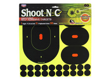 "Birchwood Casey Shoot-N-C 9"" Targets, 3"" Replacement Centers, 100 Pasters, 120ct"