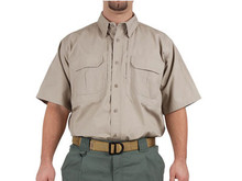 5.11 Tactical Short Sleeve Cotton Shirt, Khaki, Medium