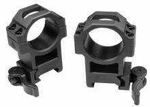 30mm Quick-Detach Rings, High, Weaver/Picatinny, See-Thru, Compact, Law-Enforcement Grade