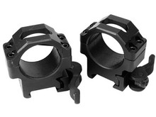UTG 30mm Quick-Detach Max Strength Rings, Low, Weaver/Picatinny