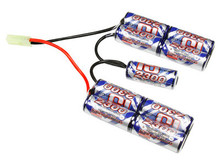 Intellect 10.8 V 2300mAh Battery, NiMH, Mini-Tamiya Female Plug, Medium Nunchuck