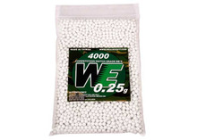 WE Competition Series 6mm Airsoft BBs, 0.25g, 4,000 Rds