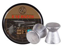 RWS R-10 Match Pistol .177 Cal, 7.0 Grains, Wadcutter, 500ct