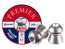 Crosman Premier .22 Cal, 14.3 Grains, Hollowpoint, 500ct