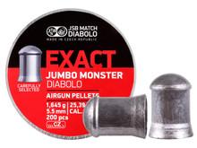 JSB Match Diabolo Exact Jumbo Monster .22 Cal, 25.39 Grains, Domed, 200ct