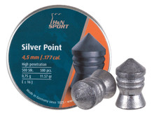 H&N Silver Point .177 Cal, 11.57 Grains, Pointed, 500ct