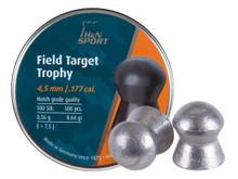 H&N Field Target Trophy, .177 Cal, 8.64 Grains, Domed, 500ct