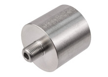 "Air Venturi Female DIN Adapter, 1/8"" Male BSPP Threads, Stainless Steel"