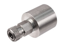 Air Venturi Female DIN Adapter, Female Quick-Disconnect, Stainless Steel