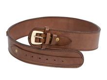 "Gun Belt, 30-34"" Waist, .38-Cal Loops, 2.5"" Wide, Chocolate Leather"