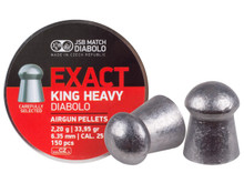 JSB Diabolo Exact King, .25 Cal, 33.95 Grains, Domed, 150ct