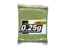 TSD Tactical  Competition Grade Grade 6mm Plastic Airsoft BBs, 0.25g, 3,000 Rds, OD Green