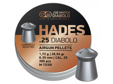 JSB Match Diabolo Hades, .25 Cal, 26.54gr, Pointed 300 ct