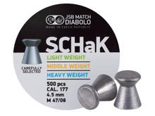 JSB Schak .177, Middle Weight, 8.02 Grains, Wadcutter, 500 ct