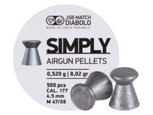JSB Simply Pellets .177 Cal, 8.02 Grains, Wadcutter, 500ct
