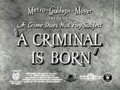 A Criminal Is Born (1938) DVD