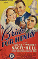 A Bride For Henry (1937) DVD