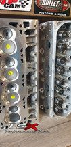 GM L76/92 Cylinder Heads Assembled | Rectangle Port | As Cast | 70cc / 260cc