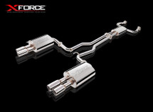 "X Force Twin 3"" Stainless Steel Cat-Back Exhaust System."