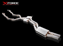 """Xforce Pro Series Full 2.5"""" Inch Stainless Steel Exhaust System"""