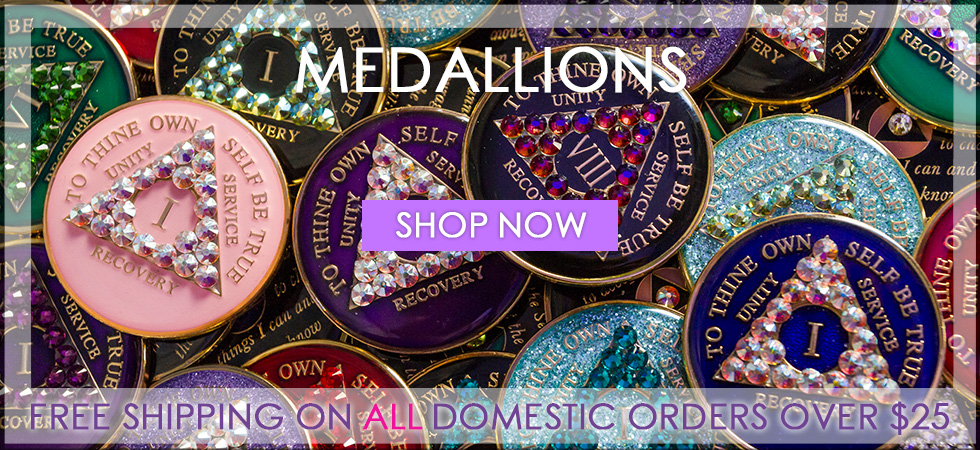 12 Steep Recovery Medallions