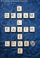 DREAM, FAITH, LOVE CARD