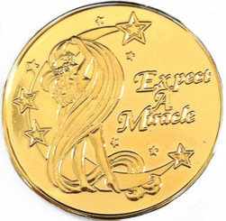 Expect Miracles Gold Specialty Medallion