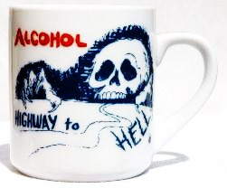ALCOHOL: HIGHWAY TO HELL MUG