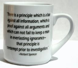 CONTEMPT PRIOR TO INVESTIGATION MUG