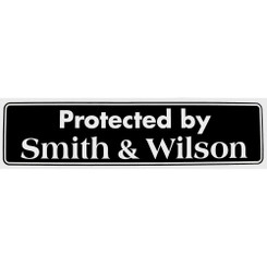 PROTECTED BY SMITH AND WILSON Bumper Sticker