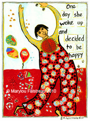 DECIDED TO BE HAPPY CARD