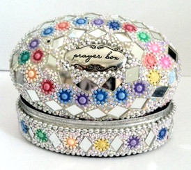 SILVER GLITTER Prayer Box