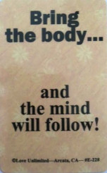 THE MIND WILL FOLLOW WALLET CARD
