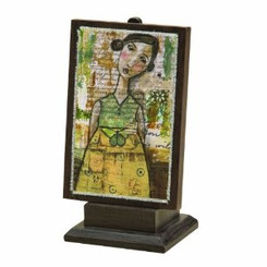 "KELLY RAE ROBERTS ""QUIET COURAGE"" PLAQUE WITH STAND"